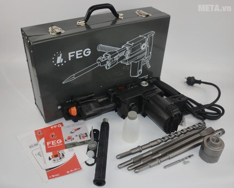 Bộ sản phẩm máy khoan bê tông FEG 38mm EG-580