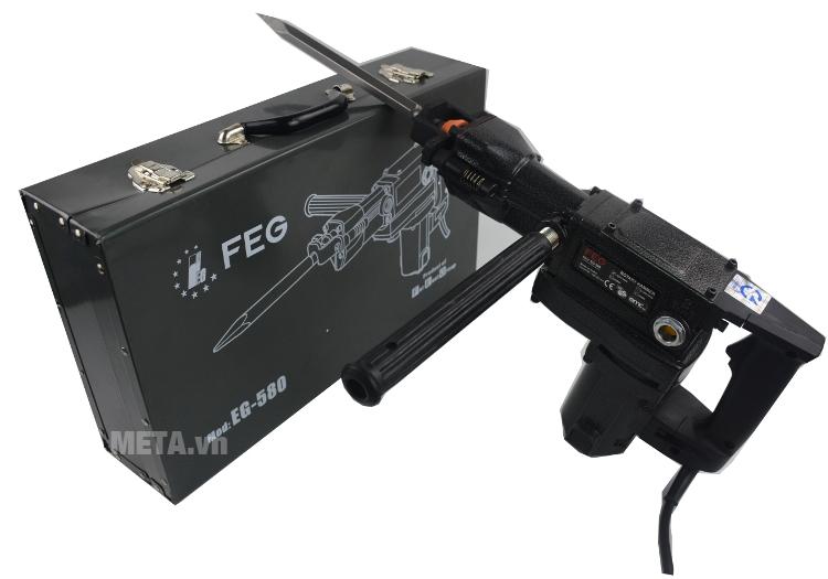 Máy khoan bê tông FEG 38mm EG-580 dùng mũi khoan lục giác.