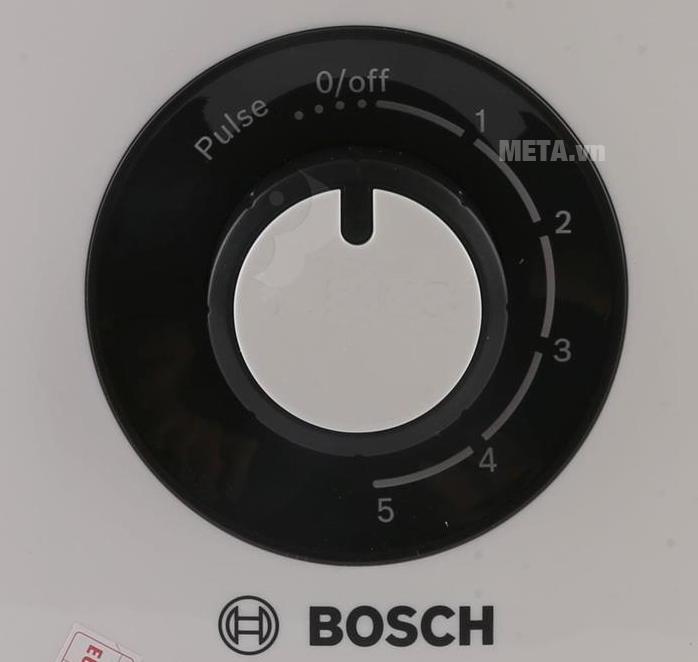 Máy xay sinh tố Bosch MMB33P5B với nút điều chỉnh 5 tốc độ.