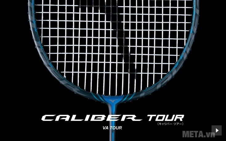 Vợt cầu lông Mizuno Caliber VA Tour với thiết kế khung vợt chữ V.