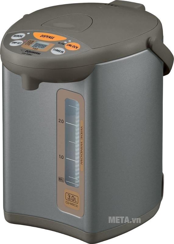 Bình thủy điện Zojirushi CD-WBQ30 có chế độ hẹn giờ tiết kiệm điện.