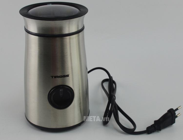 Máy xay cà phê mini Tiross TS532 nhỏ gọn, dễ bảo quản.