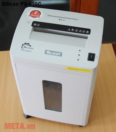 Máy hủy tài liệu Silicon PS-630C có độ rộng để cho vật vào hủy vào là 230mm