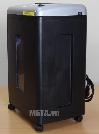 Máy hủy tài liệu Silicon PS-650C có bánh xe di chuyển
