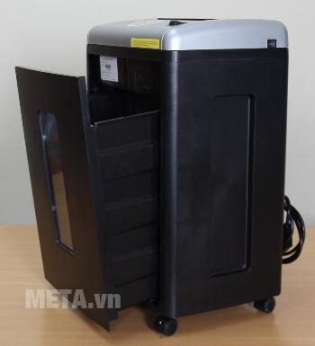 Máy hủy tài liệu Silicon PS-650C có thùng chứa rác lớn