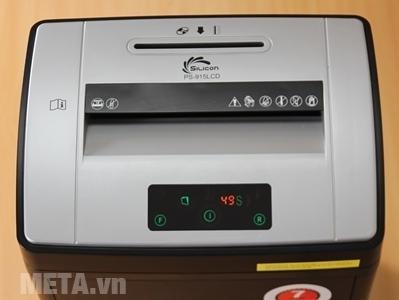 Máy hủy tài liệu Silicon PS-915LCD có màn hình led