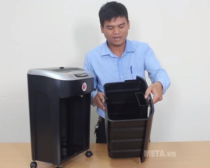 Máy hủy tài liệu Silicon PS-990C dễ dàng tháo rời thùng rác