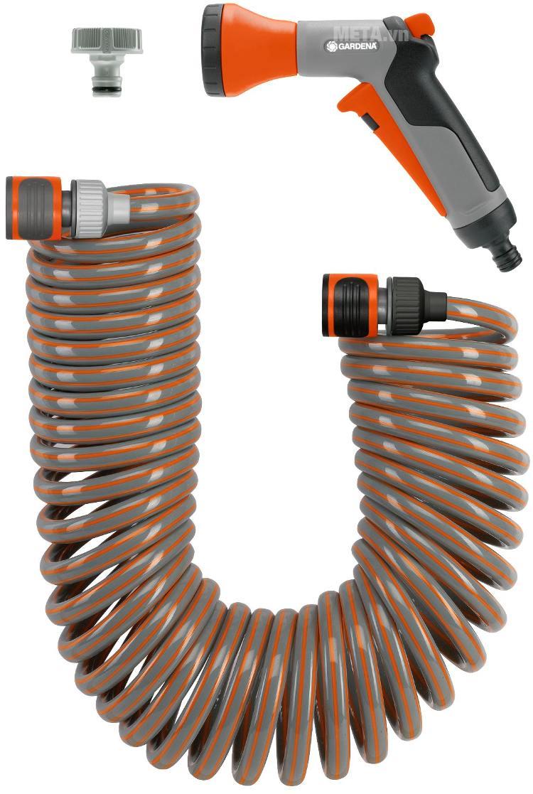 Bộ ống tưới xoắn co giãn 10m Gardena 04647-20