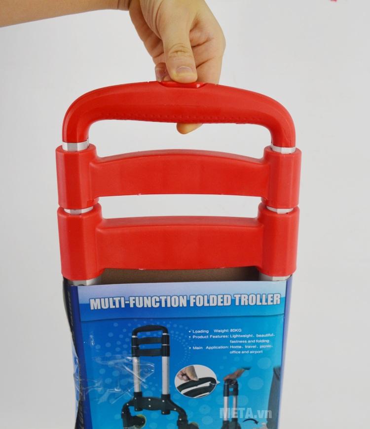 Xe kéo hàng khung nhôm hợp kim tải trọng 80kg có tay cầm bọc nhựa