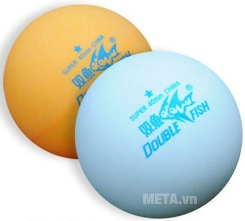 Quả bóng bàn Double Fish 40+ 1 sao với 2 màu bóng.
