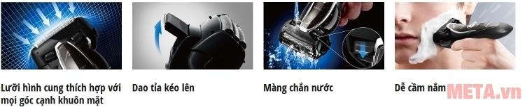 Máy cạo râu Panasonic ES-ST25 có thời gian sạc 60 phút, sử dụng được 45 phút.
