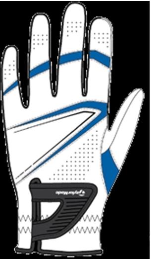 Găng tay golf nam TaylorMade Stratus Sport Blue (B11961) đeo tay trái dành cho người thuận tay phải.