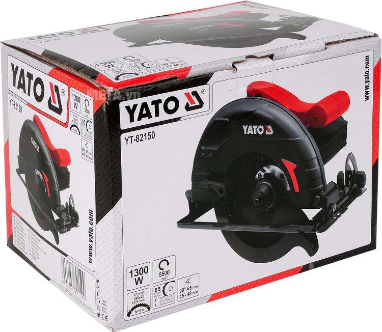 Máy cưa đĩa 1300W Yato YT-82150 với hộp đựng sang trọng.