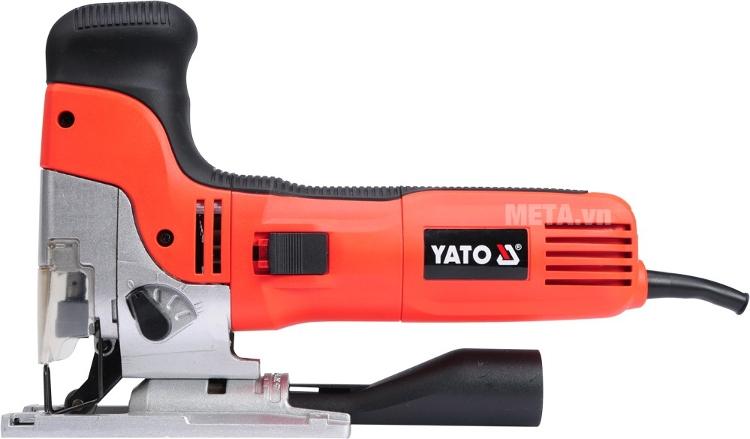 Máy cưa lọng 750W Yato YT-82272 với thiết kế vỏ ngoài cách nhiệt, chịu lực và bền bỉ.