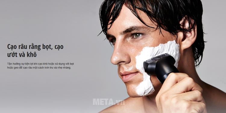 Máy cạo râu Panasonic ES-SL10 cạo râu ướt và khô.