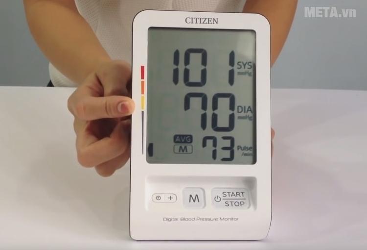 Máy đo huyết áp bắp tay Citizen CH-456 do huyết áp tại nhà dễ dàng.