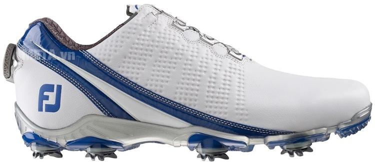 Giày golf nam FootJoy DNA BOA Trắng xanh hoàng gia 53394