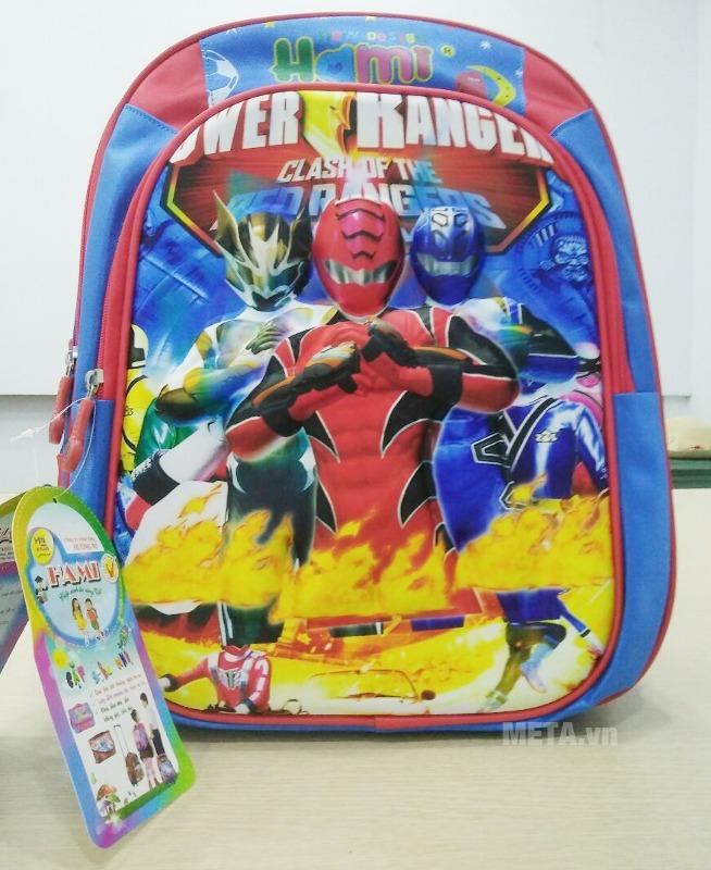 Ba lô học sinh Hami BL299 có hình siêu nhân mạnh mẽ, thích hợp cho bé trai.