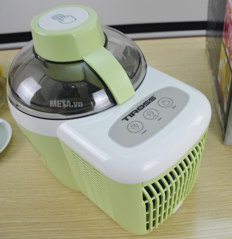 Máy làm kem tươi Tiross TS-9090 dễ vệ sinh sau khi làm kem.