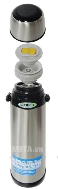 Bình giữ nhiệt lưỡng tính Tiger MBI-A100 có thể tháo rời các bộ phận để vệ sinh.
