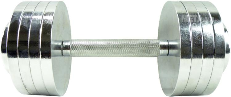 Tạ tay Inox XD-051 6kg với bề mặt trơn láng.
