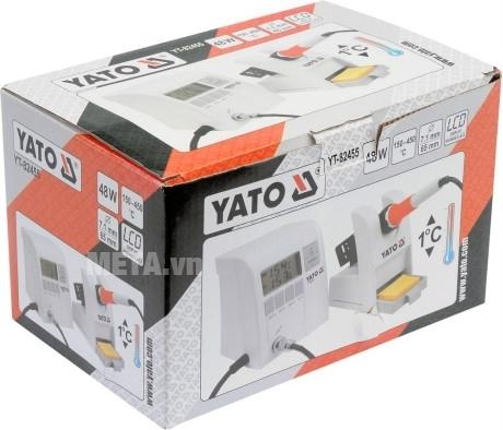 Máy kiểm tra nhiệt độ hàn Yato YT-82455 có hộp đựng bảo quản máy.
