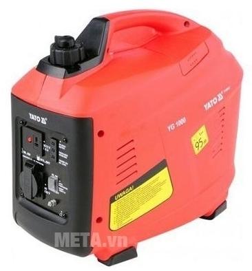 Máy phát điện dùng xăng Yato YT-85421 có màu đỏ đen sang trọng.