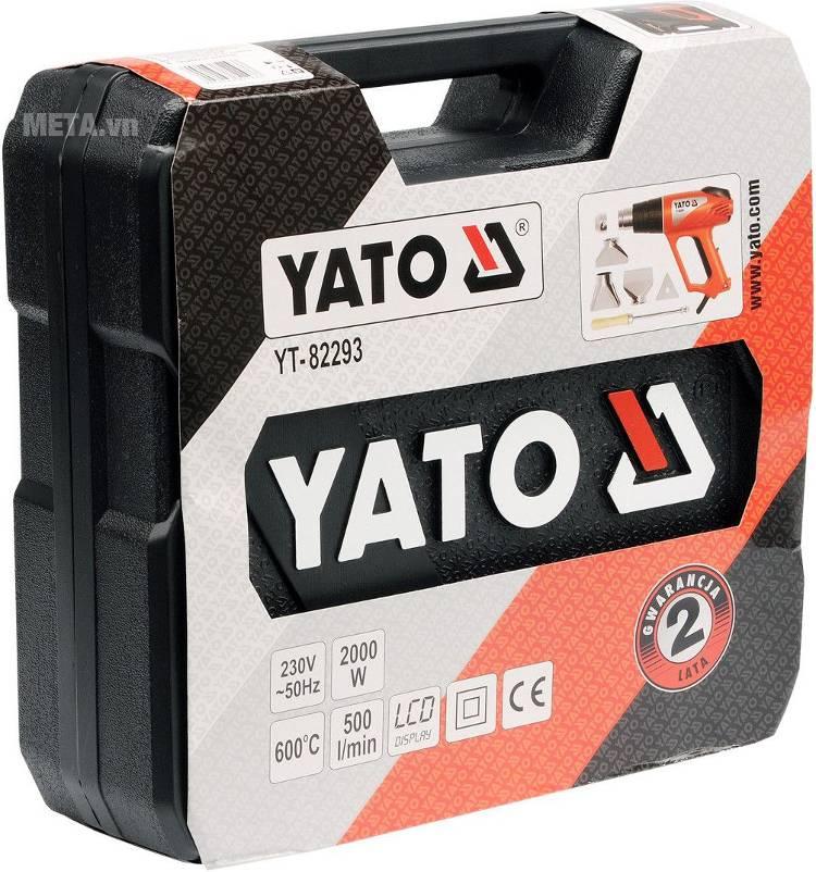 Máy phun hơi nóng Yato YT-82293 có vali đựng đi kèm.