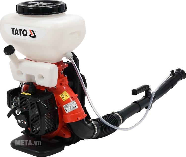 Máy phun thuốc khử trùng Yato YT-85140 với thiết kế ống vòi xịt dài.