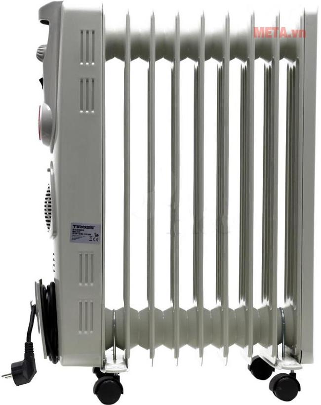 Máy sưởi dầu Tiross 9 thanh TS-925 thích hợp với diện tích phòng dưới 15m2.