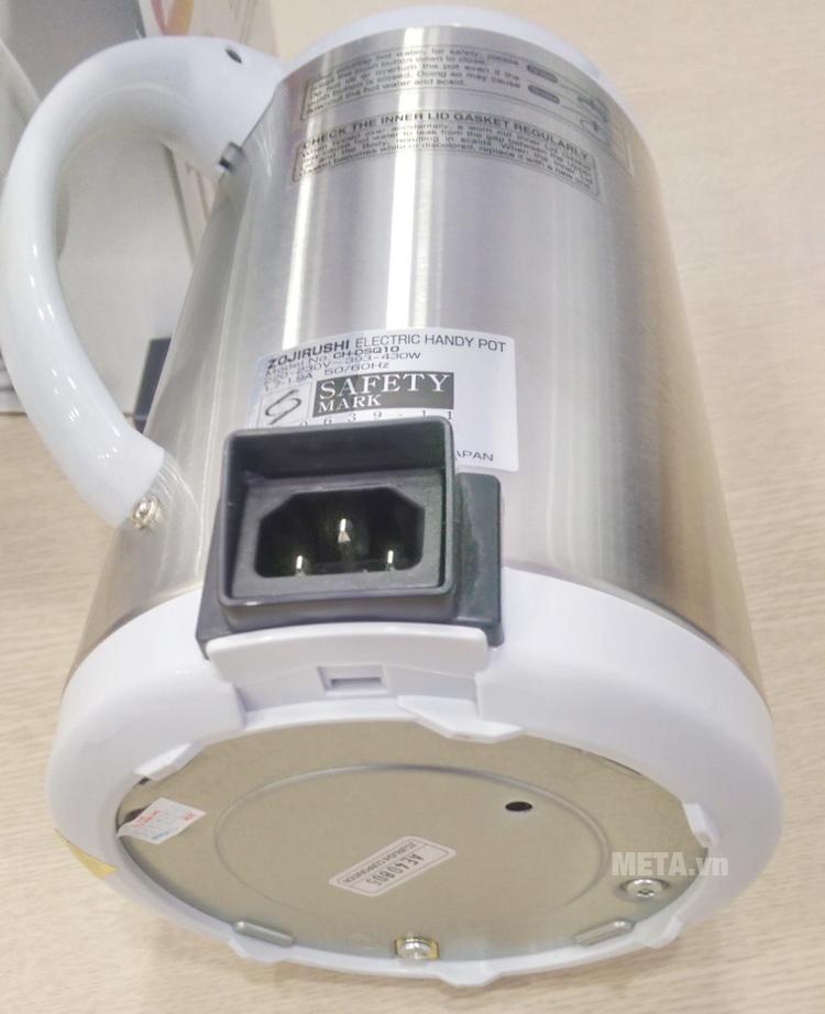Ấm siêu tốc Zojirushi CH-DSQ10 thiết kế dây điện tháo rời.
