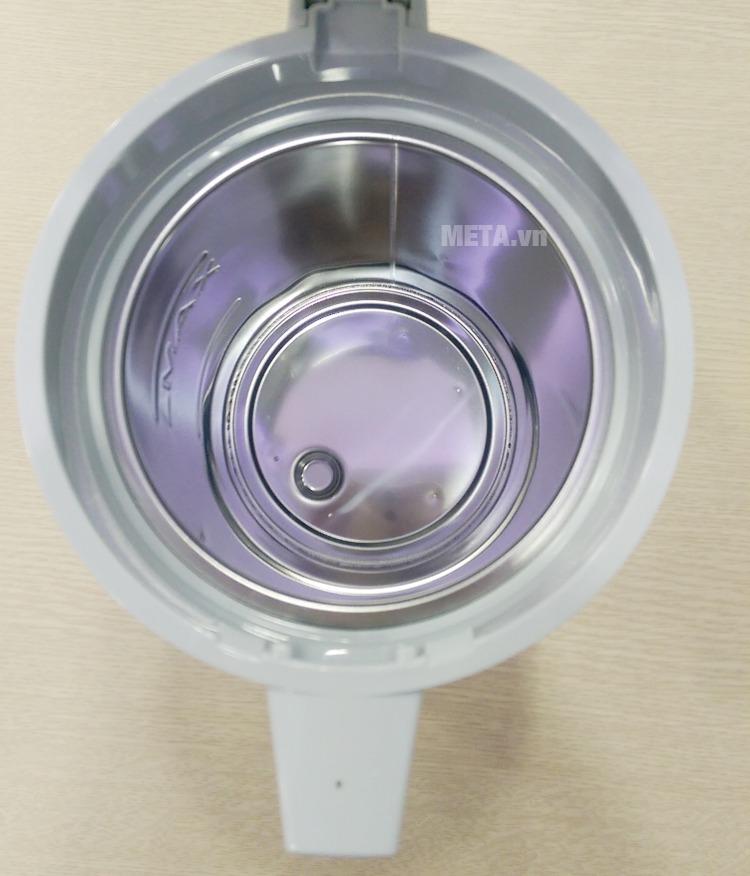 Ấm siêu tốc Zojirushi CH-DSQ10 có miệng ấm rộng dễ vệ sinh bên trong.