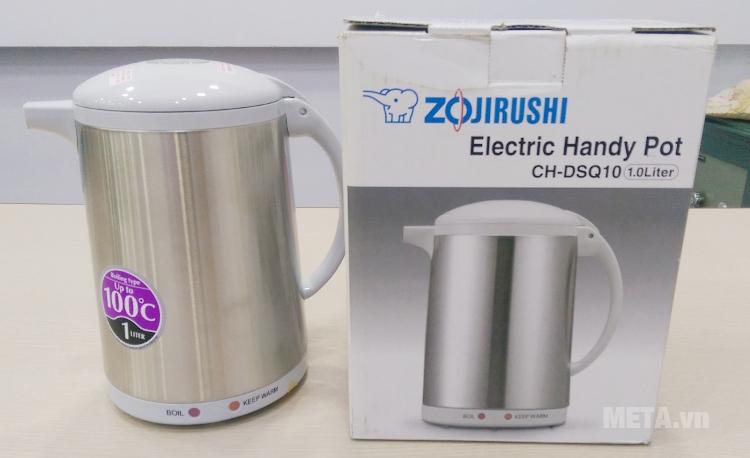 Ấm siêu tốc Zojirushi CH-DSQ10 có đèn báo khi đun sôi hoặc giữ ấm.