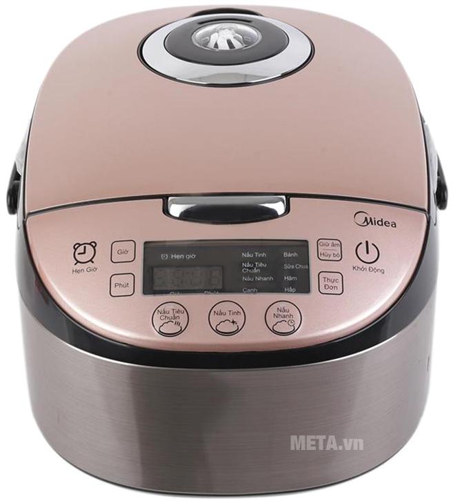 Nồi cơm điện Midea MB-FS4017 có chức năng nấu cơm, nấu canh, làm bánh, sữa chua, hâm, hấp.