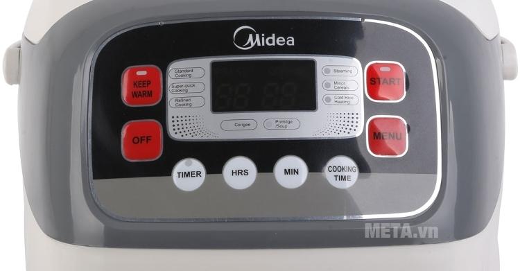 Nồi cơm điện Midea MR-SC18MB sử dụng phím bấm điện tử.