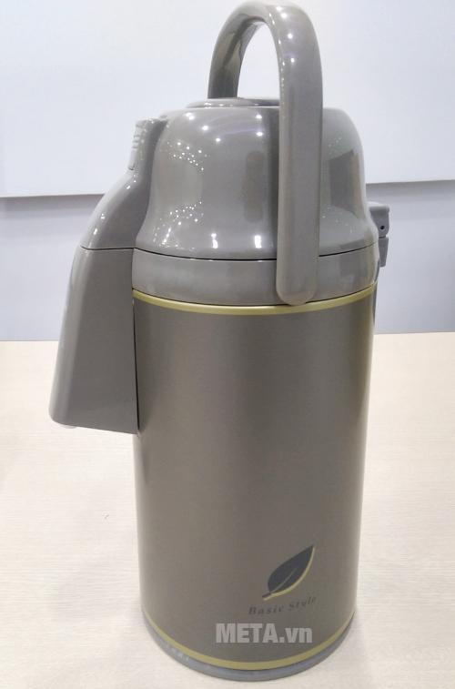 Bình thủy bơm Zojirushi VRKE-30N-TD có nắp bằng nhựa
