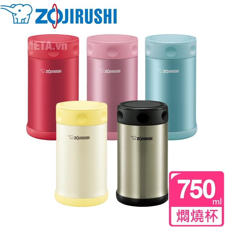 Hộp đựng thực phẩm giữ nhiệt Zojirushi SW-FCE75  với 5 màu đa dạng.