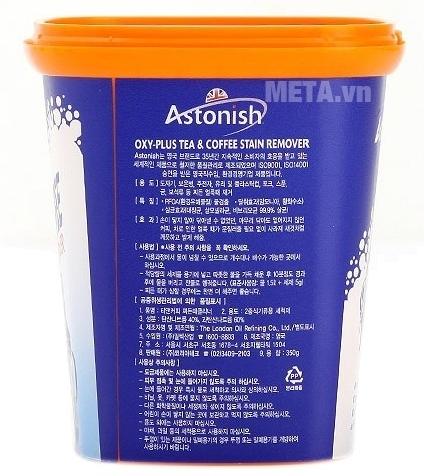 Chất tẩy rửa cặn trà, cà phê Astonish dễ dàng sử dụng.