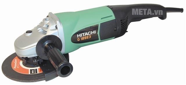 Máy mài góc 2300W Hitachi G18SE3 có tay nắm phụ giúp điều khiển đường mài chính xác.