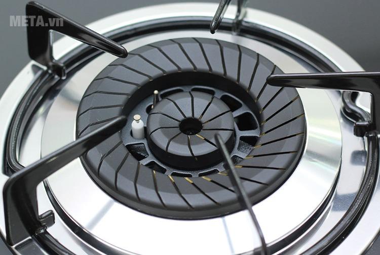 Bếp ga âm kính cao cấp Sunhouse SHB6636 với thiết kế kiềng bếp chắc chắn.