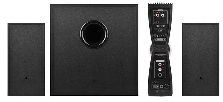 Loa Edifier C2X có màu đen sang trọng.