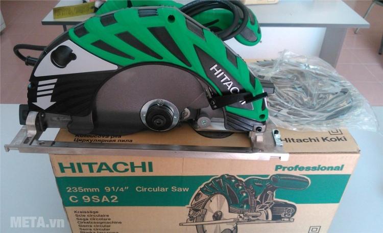 Máy cưa gỗ 2000W Hitachi C9SA2 có tay cầm bọc nhựa