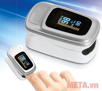 Máy đo nồng độ oxy trong máu và nhịp tim Lanaform S1 sử dụng đơn giản, không đau.