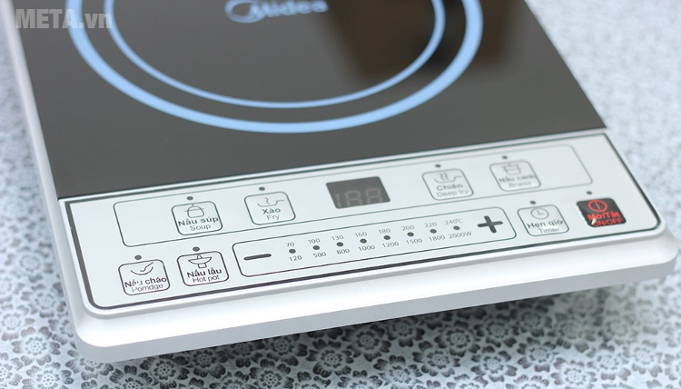 Bếp từ Midea MI-B2015DE có dải nhiệt độ từ 70 - 240 độ C