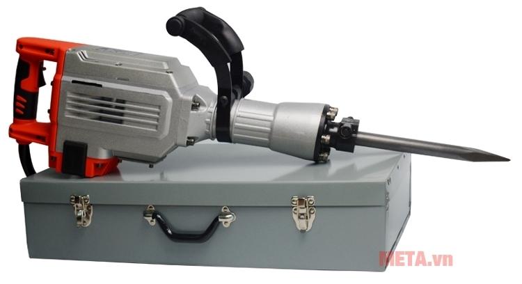 Máy đục bê tông Kainuo 8809 thiết kế hộp bảo quản máy có tay xách tiện lợi hơn khi di chuyển.