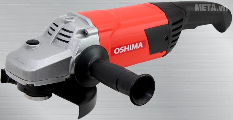 Máy mài góc Oshima M2300 với thiết kế tay cầm chắc chắn.