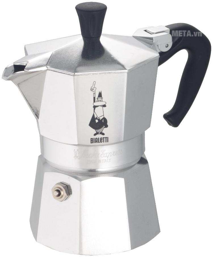 Ấm pha cà phê Bialetti Moka Express 4TZ BCM-1164 có kiểu dáng thật sang trọng.