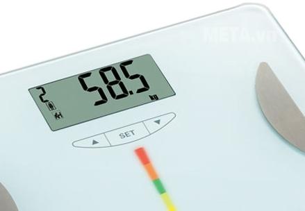 Cân sức khỏe điện tử Camry EF601 với thiết kế màn hình LCD.