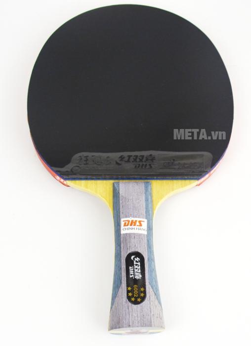 Vợt bóng bàn mút DHS-6002 có một mặt màu đen