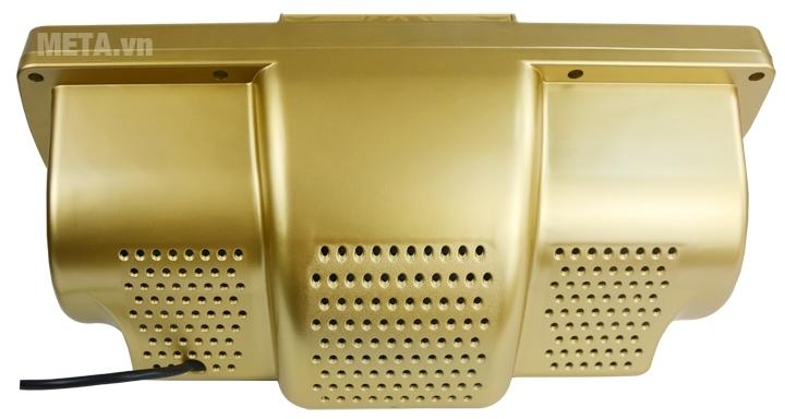 Đèn sưởi nhà tắm 2 bóng Kottmann K2B-HW-G thiết kế nhiều lỗ tỏa nhiệt phía sau.